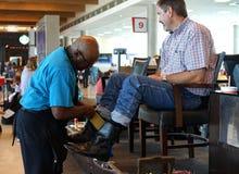 Éclat de botte - aéroport de Dallas photographie stock