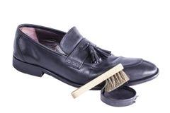 Éclat de brosse de chaussure Image libre de droits