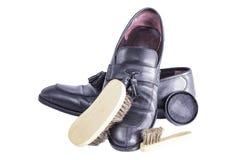 Éclat de brosse de chaussure Photos libres de droits