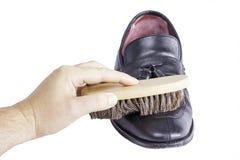 Éclat de brosse de chaussure Image stock