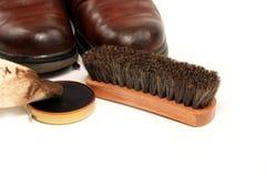 Éclat de chaussure Photos stock