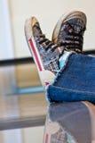 Éclat de chaussure Photographie stock