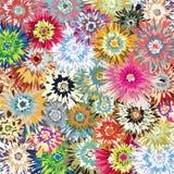 Éclat de couleur d'art déco de fleur Images libres de droits