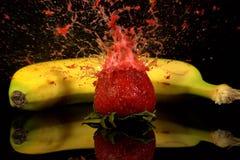 Éclat de fraise Photo libre de droits