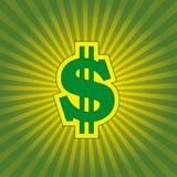 Éclat du dollar d'affaires Images libres de droits