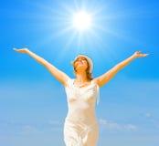 Éclat en fonction, le soleil d'été ! Photographie stock libre de droits