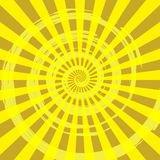 Éclat Ray Background Yellow de résumé Images stock