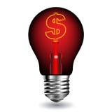 Éclat vert d'ampoule. Vecteur Image stock