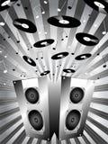 Éclatement de musique Images libres de droits