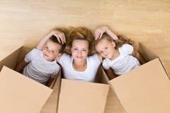 Éclatement heureux de famille Photos libres de droits