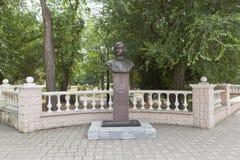 Éclatez à l'auteur russe Nikolai Vasilyevich Gogol dans la ville photos libres de droits