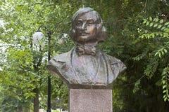 Éclatez à Nikolai Vasilyevich Gogol dans la ville d'Evpatoria, Crim image libre de droits