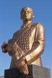 Éclatez à Sergei Leonidovich Sokolov contre le ciel bleu dans la ville d'Evpatoria, Crimée photos stock