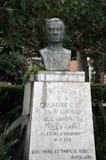 Éclatez au poète Ruben Dario en parc de ville de Cadix image stock
