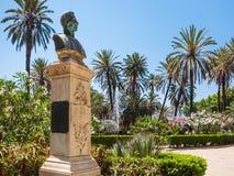 Éclatez dans le jardin public de Bonanno de villa à Palerme image libre de droits