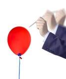 Éclatez un ballon images libres de droits