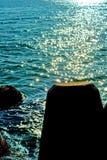 Éclats sur la mer Photographie stock libre de droits