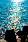 Éclats sur la mer Photos stock