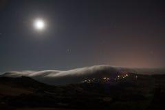Éclipsé par des nuages Photo libre de droits