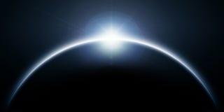 Éclipse bleue du soleil Image stock