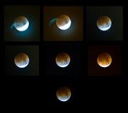 Éclipse de lune Photographie stock