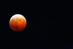Éclipse lunaire et Uranus photographie stock
