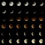 2015 éclipse lunaire Matrix Photographie stock