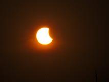 Éclipse partielle de Sun Image stock