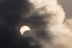 Éclipse partielle en Thaïlande Images libres de droits