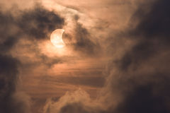 Éclipse partielle en Thaïlande Photographie stock