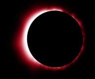 Éclipse rouge rougeoyante Photos stock