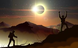 Éclipse solaire Photographie stock