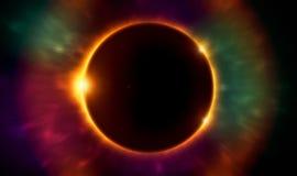 Éclipse solaire illustration de vecteur