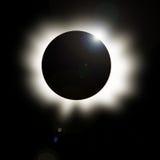 Éclipse solaire avec le travail digital Images stock