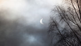 Éclipse solaire en Ecosse images stock