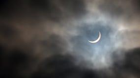 Éclipse solaire le 20 mars 2015 Photos stock