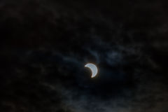 Éclipse solaire, New York NY le 21 août 2017 Images libres de droits