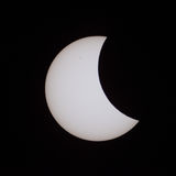 Éclipse solaire partielle en Russie le 20 mars 2015 Photos libres de droits