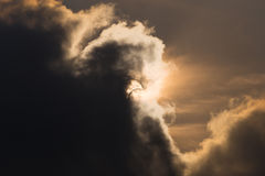 Éclipse solaire partielle en Thaïlande Photo libre de droits