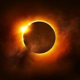Éclipse totale illustration de vecteur