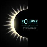 Éclipse totale du soleil Image stock