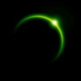 Éclipse verte Image libre de droits