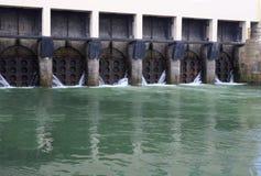 Écluse de fossé de drainage Image libre de droits