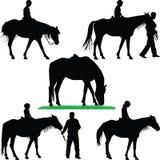 École d'équitation Photographie stock libre de droits