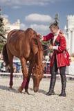École d'équitation de Kremlin de représentation Photographie stock libre de droits