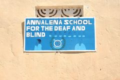 École d'Annalena pour le sourd et aveugle images stock