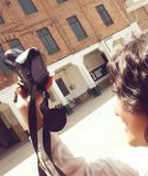 École d'appareil-photo de style de photo d'ami Photographie stock libre de droits