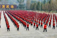 École d'arts martiaux Shaolin image libre de droits