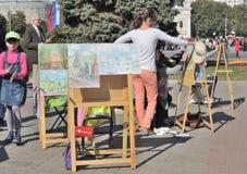 École d'exposition de dessin Images stock