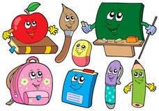 école d'illustrations de collections de dessin animé Images stock